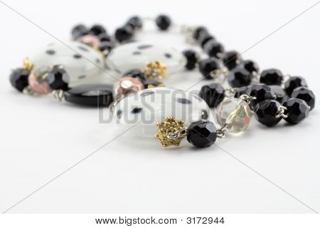Necklace On A White Background