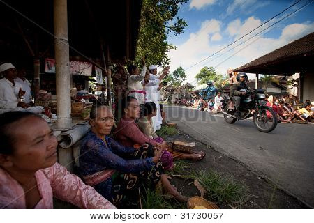 UBUD, BALI - MARCH 22: Unidentified people during the celebration of Nyepi - Balinese Day of Silence on March 22, 2012 in Ubud, Bali, Indonesia. The day following Nyepi is also celebrated as New year.