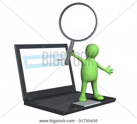 Conceptual image - information search in the Internet