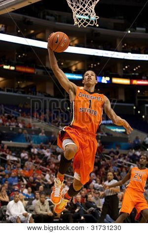 Los Angeles März 10: Oregon State Beavers g Jared Cunningham # 1 in Aktion während der ncaa-Pac-10