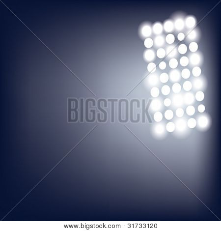 EPS10 vector illustration of stadium lights