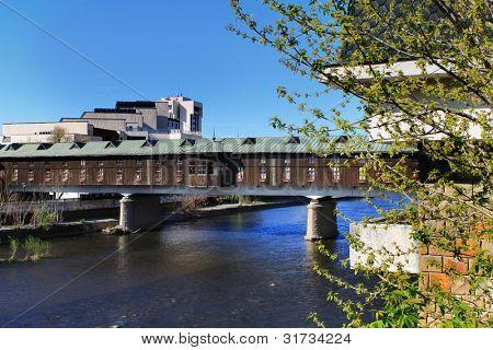 Covered bridge in Lovech, Bulgaria, Eastern Europe - historical architecture, local landmark