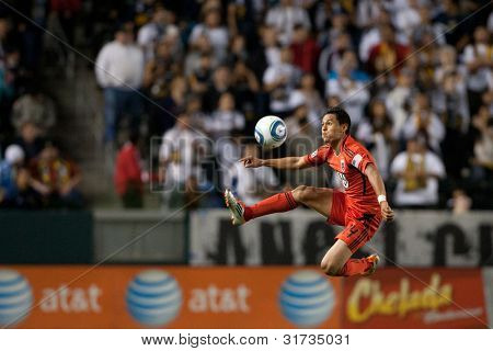 CARSON, CA. - JUNE 3: D.C. United M Andy Najar #14 in action during the Major League Soccer game between D.C. United & the Los Angeles Galaxy on June 3 2011 at the Home Depot Center in Carson, Ca.
