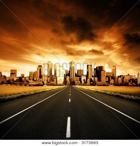 Städtische Autobahn