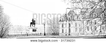 afbeelding van een weergave van Parijs (pont neuf)
