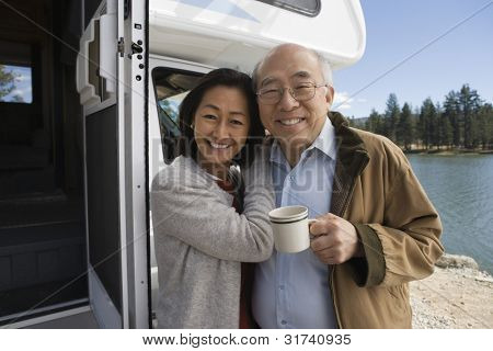 Senior Couple on Road-trip