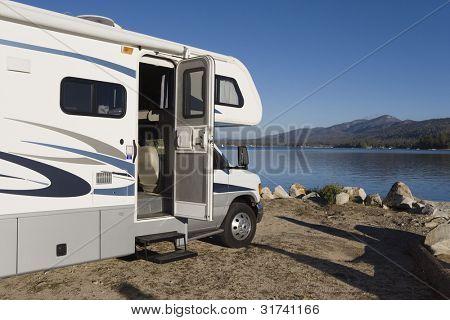 RV by a Lake