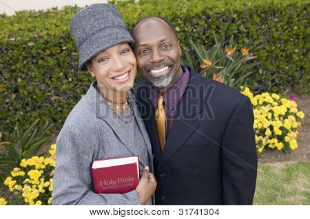 Religious Couple with Bible