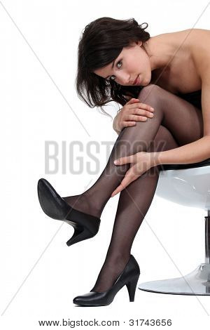 Woman wearing tights