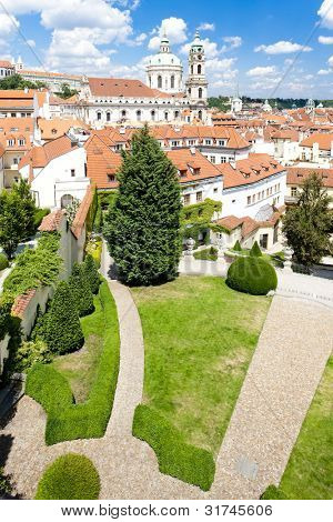 Vrtbovska Garden and Saint Nicholas Church, Prague, Czech Republic