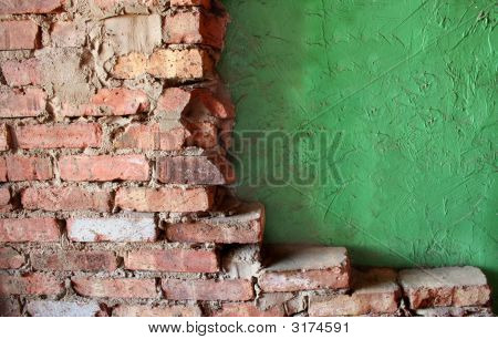 Brick And Stucco Walls