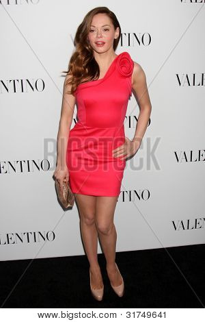 LOS ANGELES - MAR 27:  Rose McGowan arrives at the Valentino Beverly Hills Opening at the Valentino Store on March 27, 2012 in Beverly Hills, CA