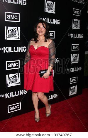LOS ANGELES - MAR 26:  Patti Kim arrives at  the AMC's