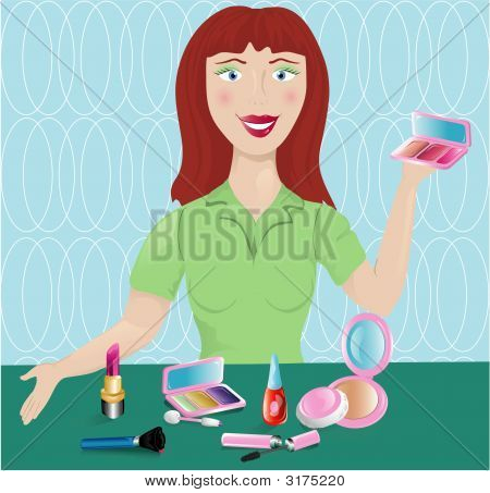 Cosmetic Saleswoman