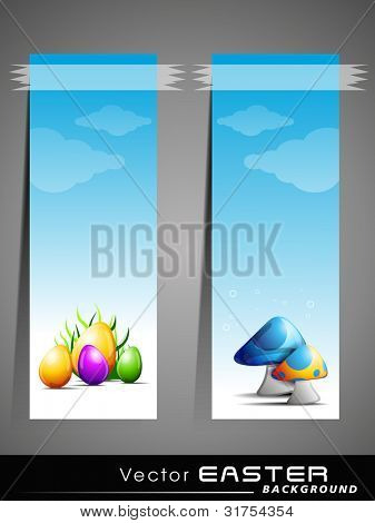 Vector illustration of sticker or label for Happy Easter, also can be use as tag, icon or element.
