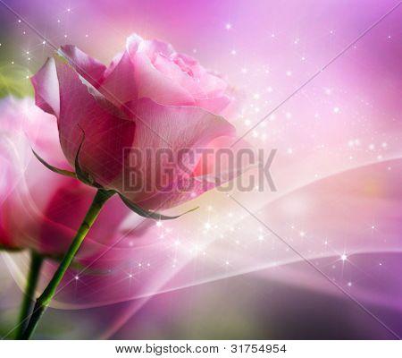 Roses Art Design. Invitation Card