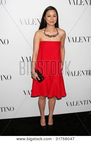 LOS ANGELES - MAR 27:  China Chow arrives at the Valentino Beverly Hills Opening at the Valentino Store on March 27, 2012 in Beverly Hills, CA