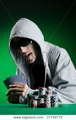 Man playing in the casino