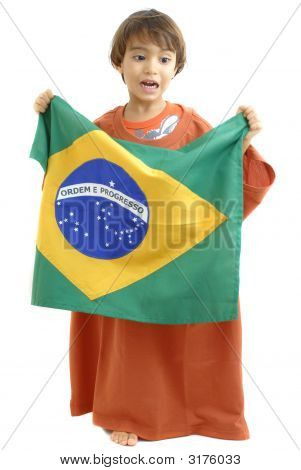 Boy And Flag