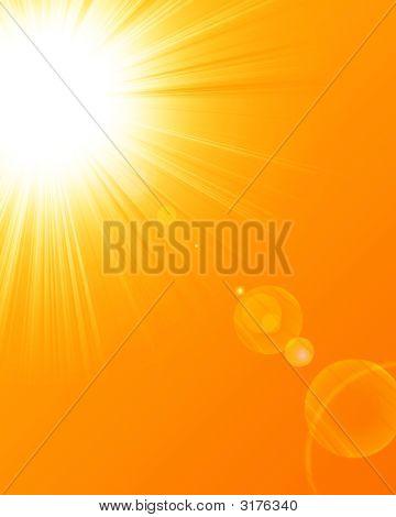 Verano caliente el sol