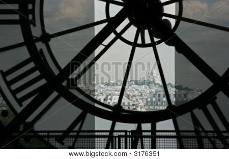 Sacre Coeur Seen From Orsay Museum