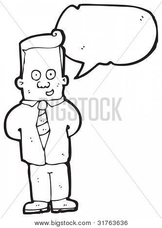 talking office man cartoon