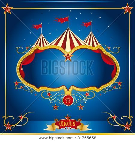 Circus blue leaflet. A circus leaflet for the announcement of your show
