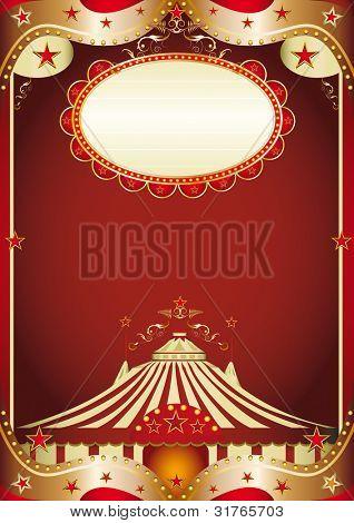 circus baroque. A baroque circus background with a big top.