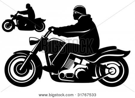 Motorcycle rider.