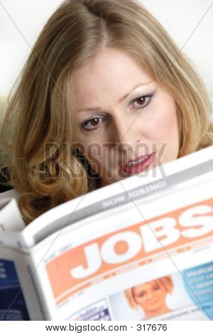 Woman Looking For A Job