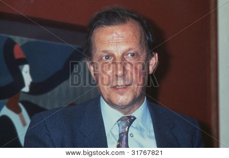 BLACKPOOL, ENGLAND - SEPTEMBER 4: Tony Hearn, General Secretary of the Broadcasting, Cinematograph and Technicians Union, attends the Trades Union Congess on September 4, 1989 in Blackpool, Lancashire, England.