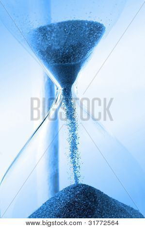 hourglass closeup shot