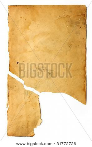 vintage stained broken paper
