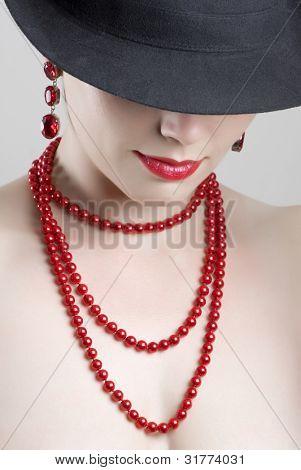 Beautiful woman portrait. Fashion art photo