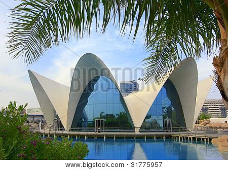 Modern Architecture in the City of Arts and Sciences in Valencia