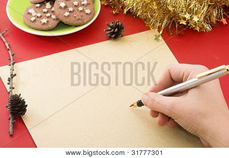 Writing a Christmas wish list