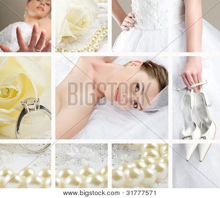 Colagem de casamento