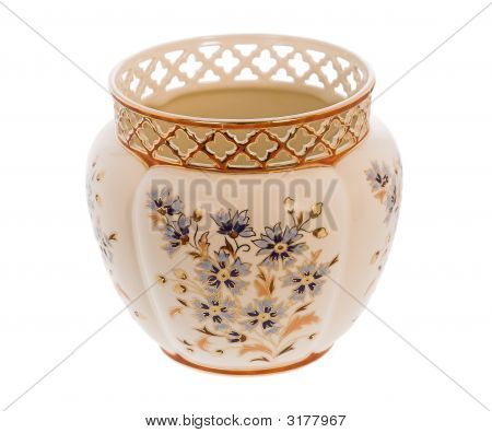 Beautiful Hungarian Hand-Painted Vase