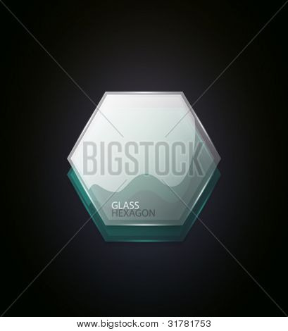 Abstract glass hexagon geometric background