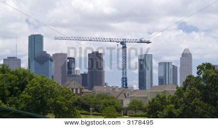 Cityscape And Crane