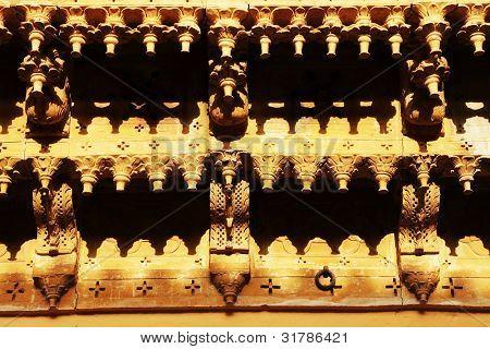 Architectural detail of Mandir Palace, Jaisalmer, India, Asia