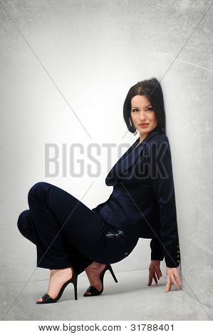 Girl In Suit