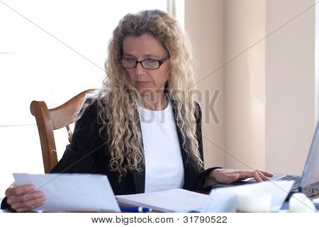 Woman Worried About Bills