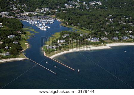 Saquatucket Harbor Aerial At Harwich Cape Cod