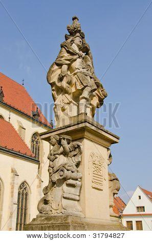 Bardejov, Slovakia - Saint Florian statue from 1774