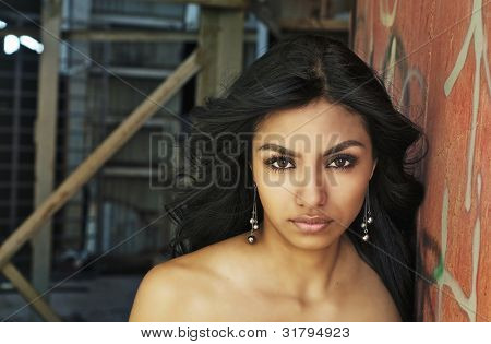 Beautiful exotic mysterious young woman