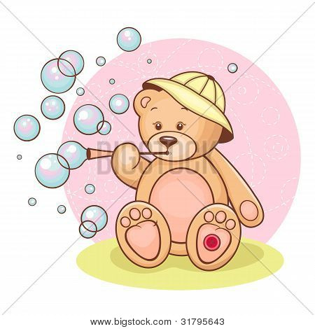 Teddy Baby and bubbles