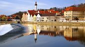 Picturesque panorama of Landsberg am Lech. Germany