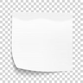 White Sheet Of Note Paper Isolated On Transparent Background. Sticky Note. Mockup Of White Note Pape poster