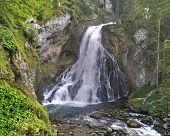 Interesting   Waterfall Next To The Goling The Salzach, Austria. poster